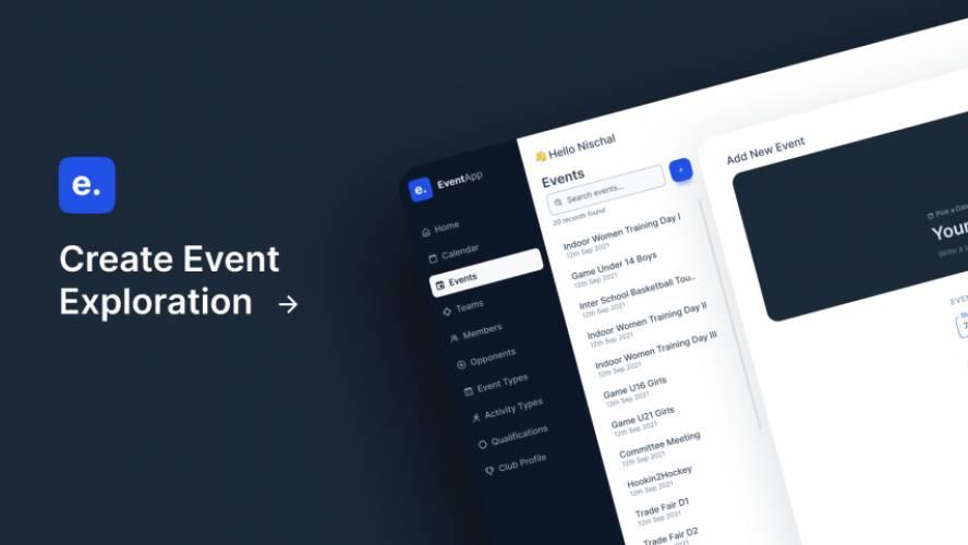 Figma Freebie Event App Concept