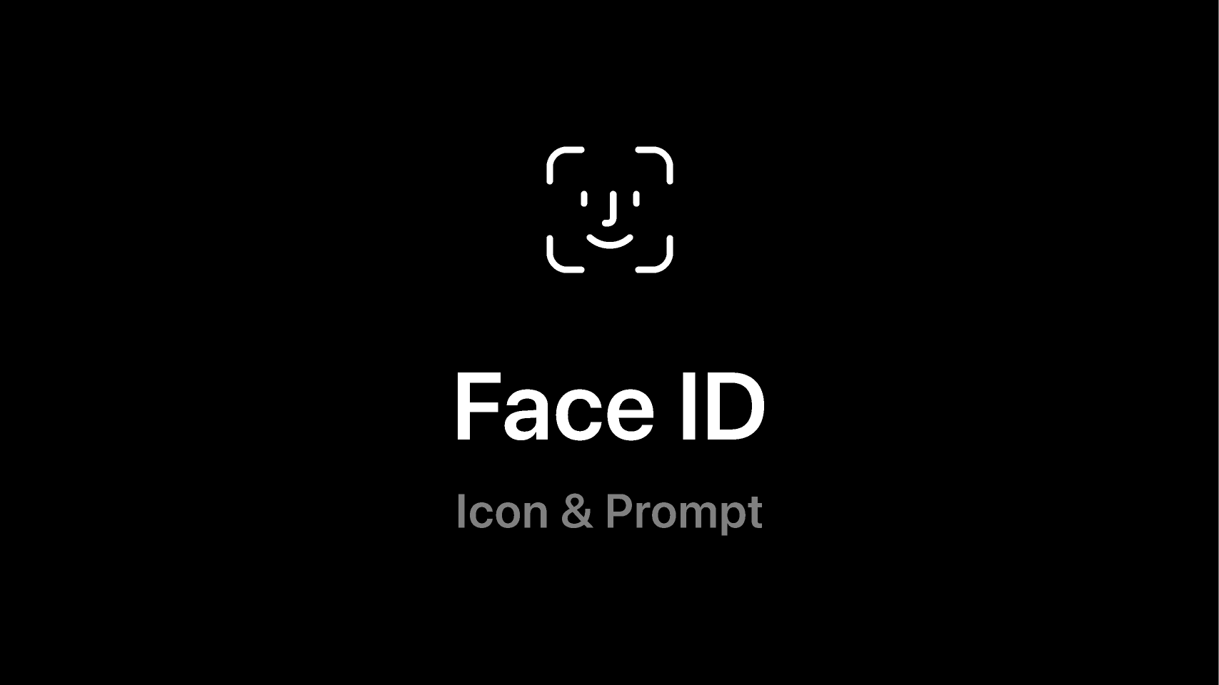 Figma freebie Face ID (Icon and Prompt)