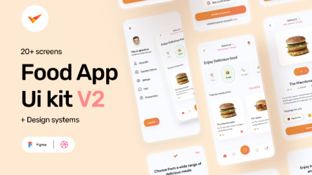 Figma Freebie Food App Ui Kit