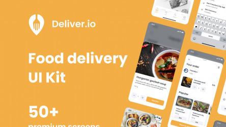 Figma Freebie Food Delivery Mobile App (Deliver.io)