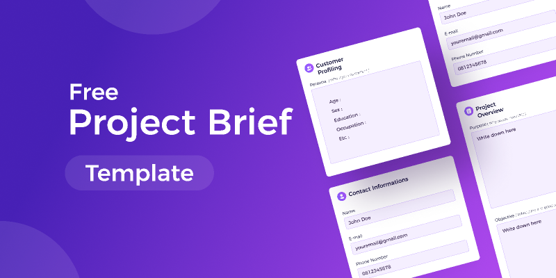 Figma freebie Free Project Brief Template