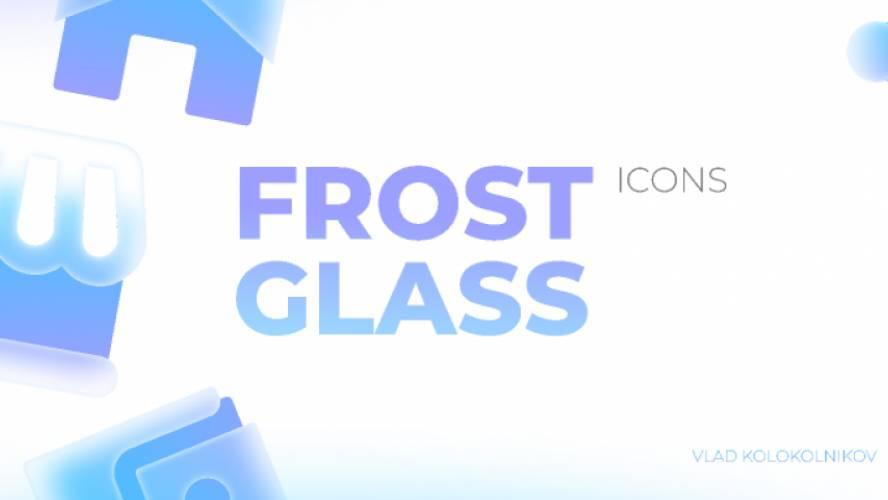 Figma freebie Glass Icons Cool