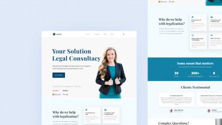 Figma Freebie Lawyer Landing Page (Lawliet)