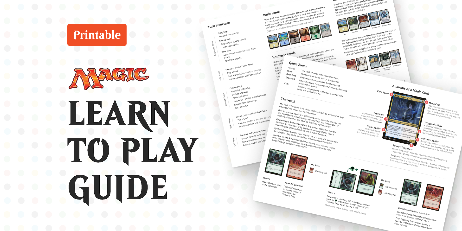 Figma Freebie Magic: the Gathering - Learn to Play Guide