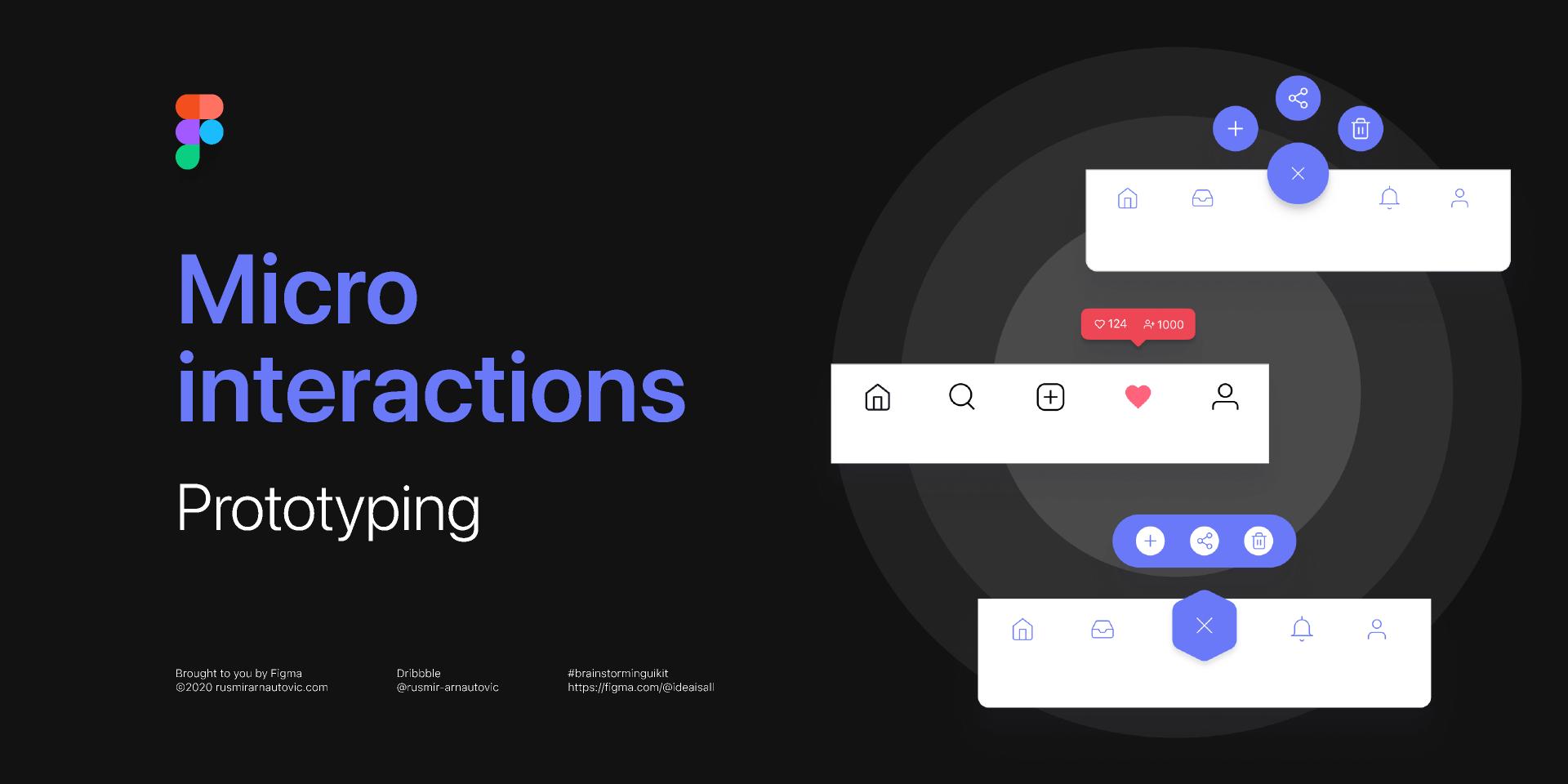 Figma Freebie Micro interactions - Prototyping