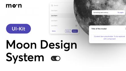 Figma Freebie Moon Design System (Public Beta)