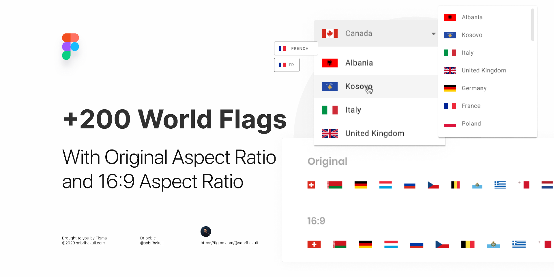 Figma freebie More than 200 Untouched Vector Flags