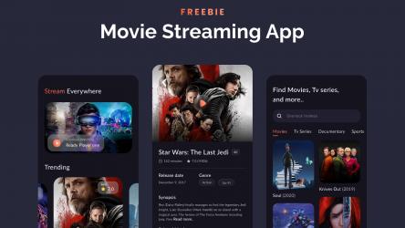 Figma Freebie Movie Streaming App