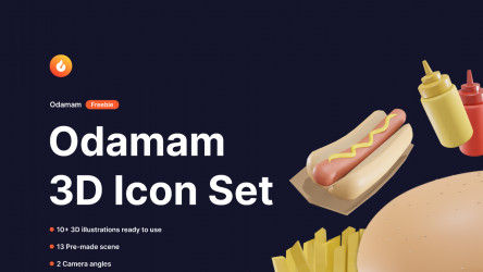 Figma Freebie Odamam - 3D Illustration
