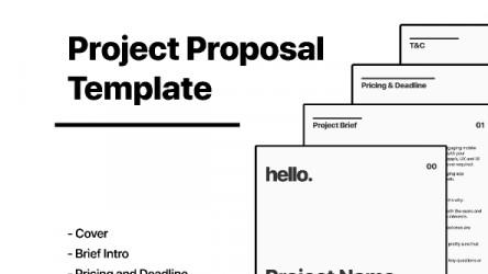 Figma freebie Project Proposal Template