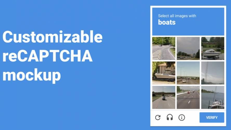 Figma freebie reCAPTCHA Mockup template