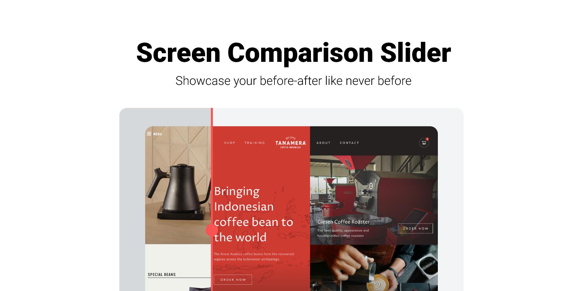 Figma freebie Screen Comparison Slider