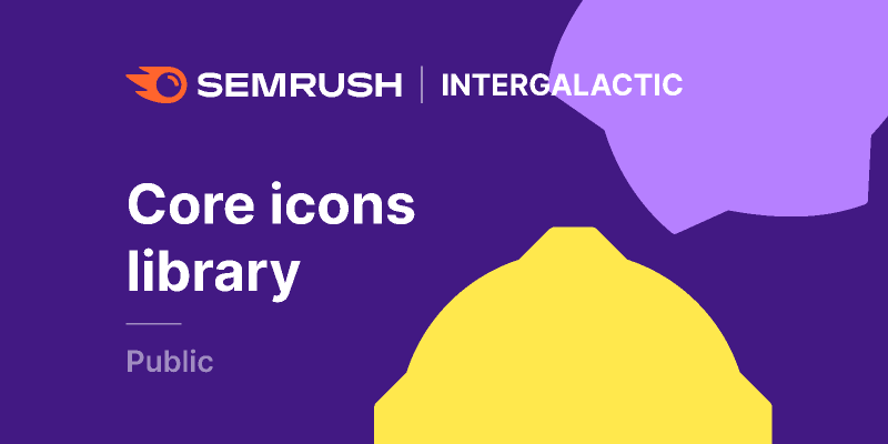 Figma freebie Semrush Core icons library