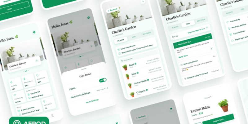 Figma Freebie Smart Garden App