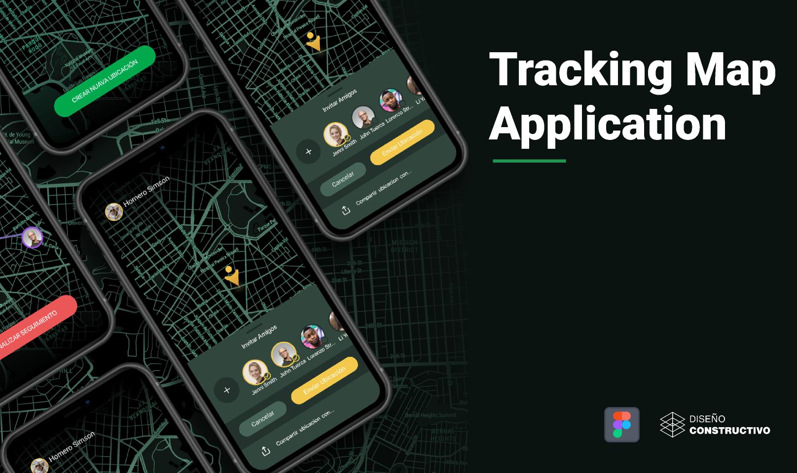Figma Freebie Tracking Map Application