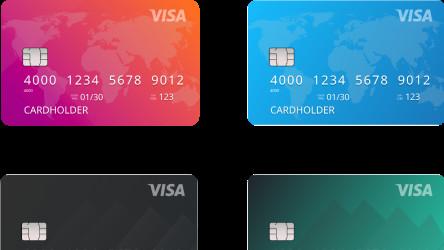 Figma freebie VISA Card design