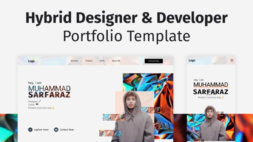 Figma Full-Stack Portfolio Web design Template