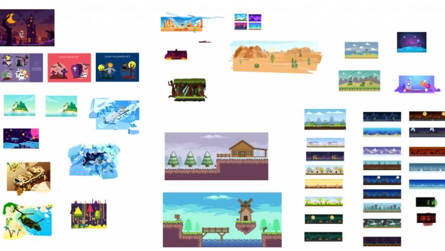Figma game corner background Template