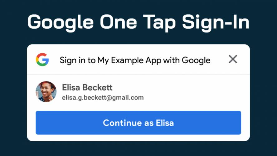 Figma Google One Tap Sign-In Component