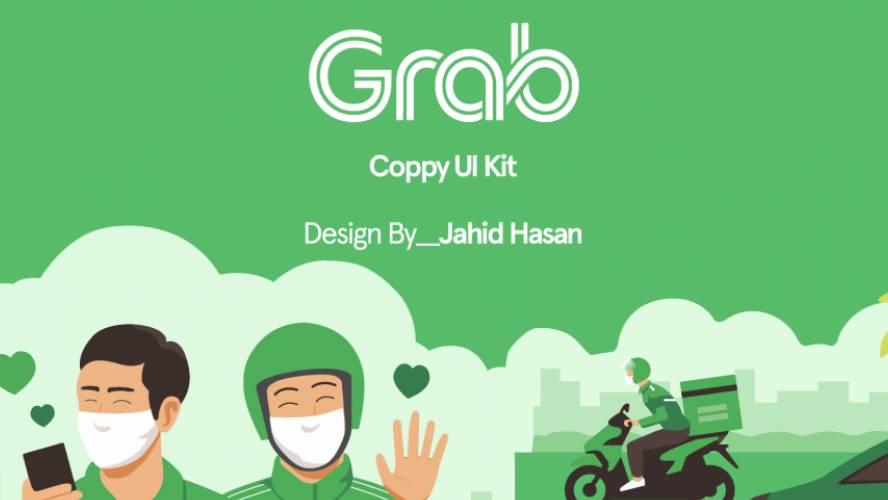 Figma Grab App Template Free Download