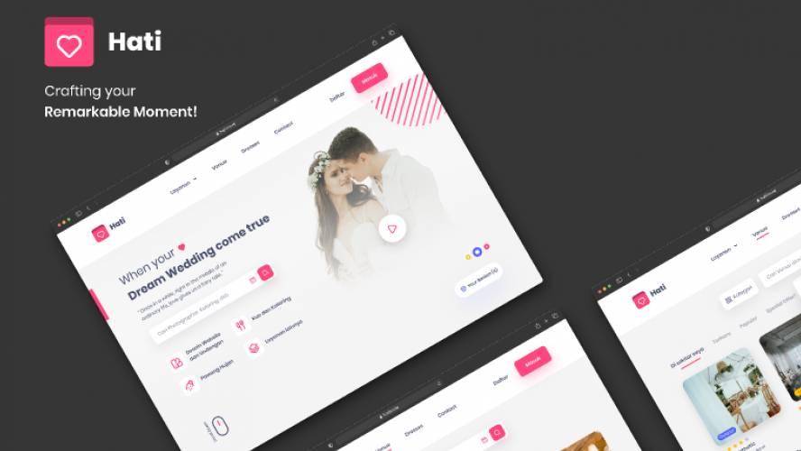 Figma Hati Wedding Planner Website Template