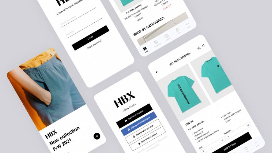 Figma HBX Store App Template