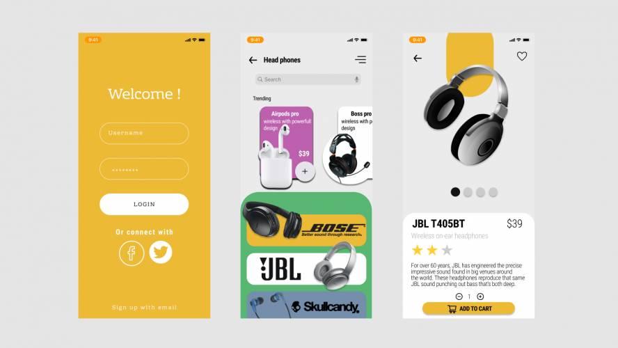 Figma Head Phone Store Mobile App