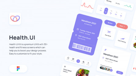 Figma Health UI Kit - Product Preview