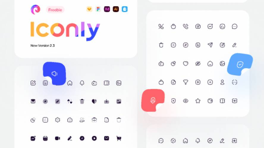 Figma Iconly 2.3 - 600+ Essential icons