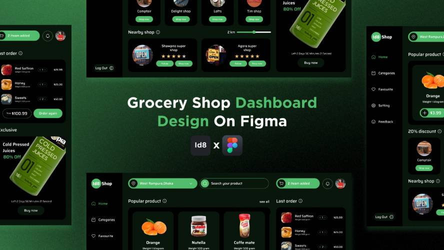Figma Ideate Design Grocery Dashboard Free Download