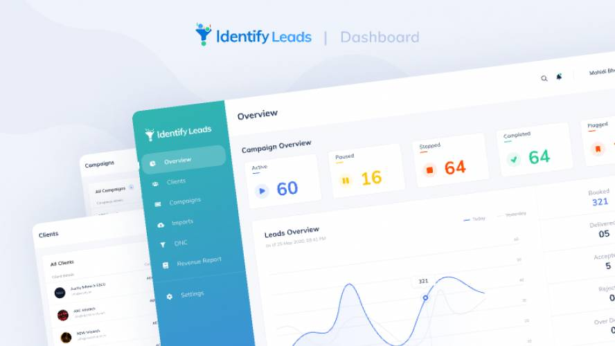 Figma Identify Leads - Dashboard UI/UX
