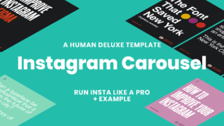Figma Instagram Carousel Template by Human Deluxe