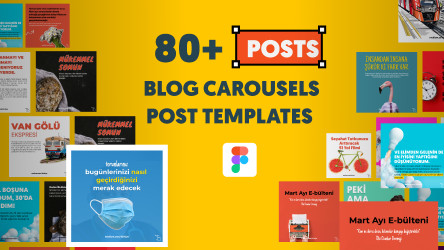 Figma Instagram Carousel Template Free Download (80+ template)