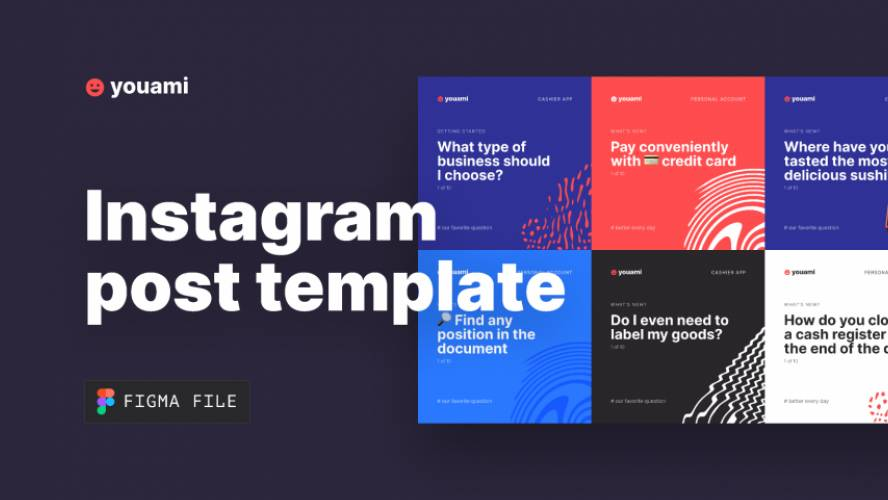 Figma Instagram Post Template