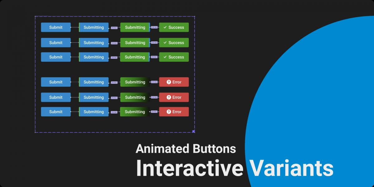 Figma Interactive Variant Animated Button