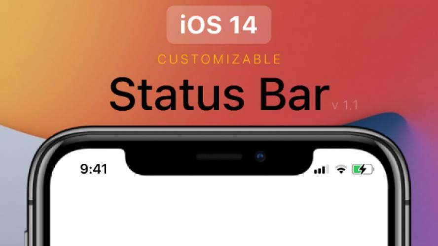 Figma iOS 14 Status Bar Free Template