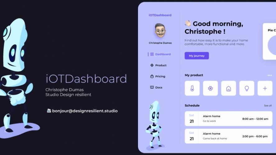 Figma iOT Dashboard Free Template