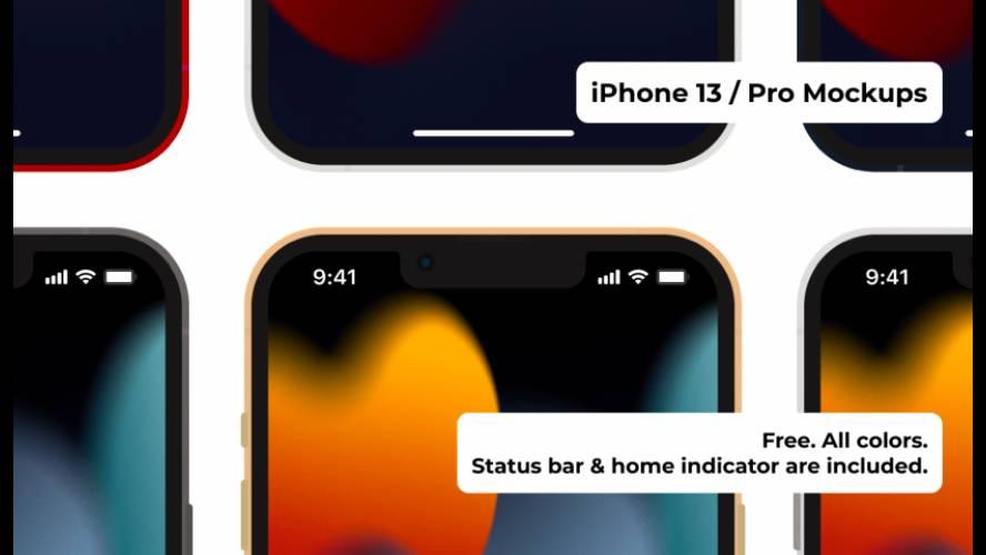 Figma iPhone 13/Pro Mockups Free Download