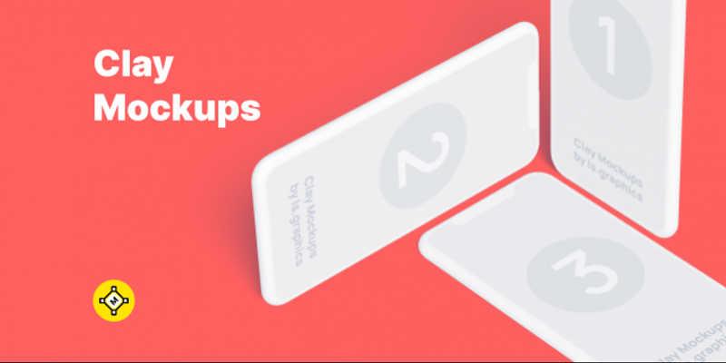 Figma Iphone Free Clay Mockups