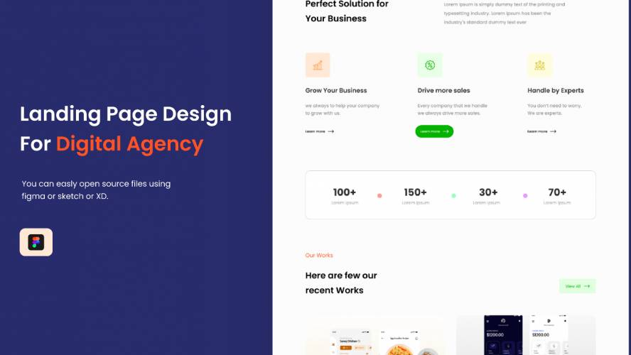 Figma Landing Page Design - Digital Agency