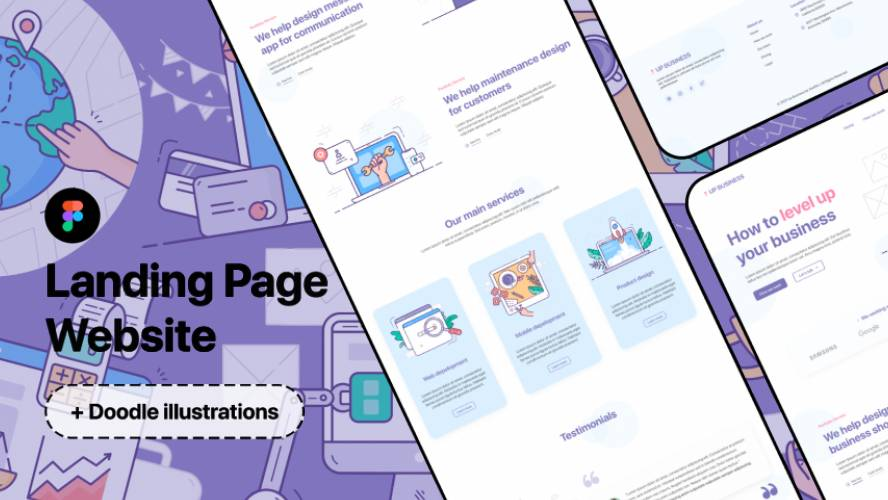 Figma Landing Page Website - Level Up Your Business