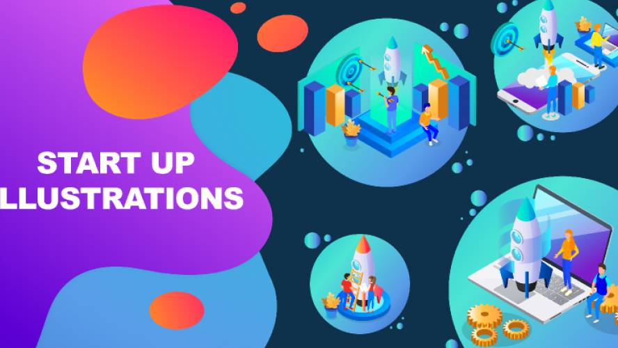 Figma Launching Start Up - Illustrations