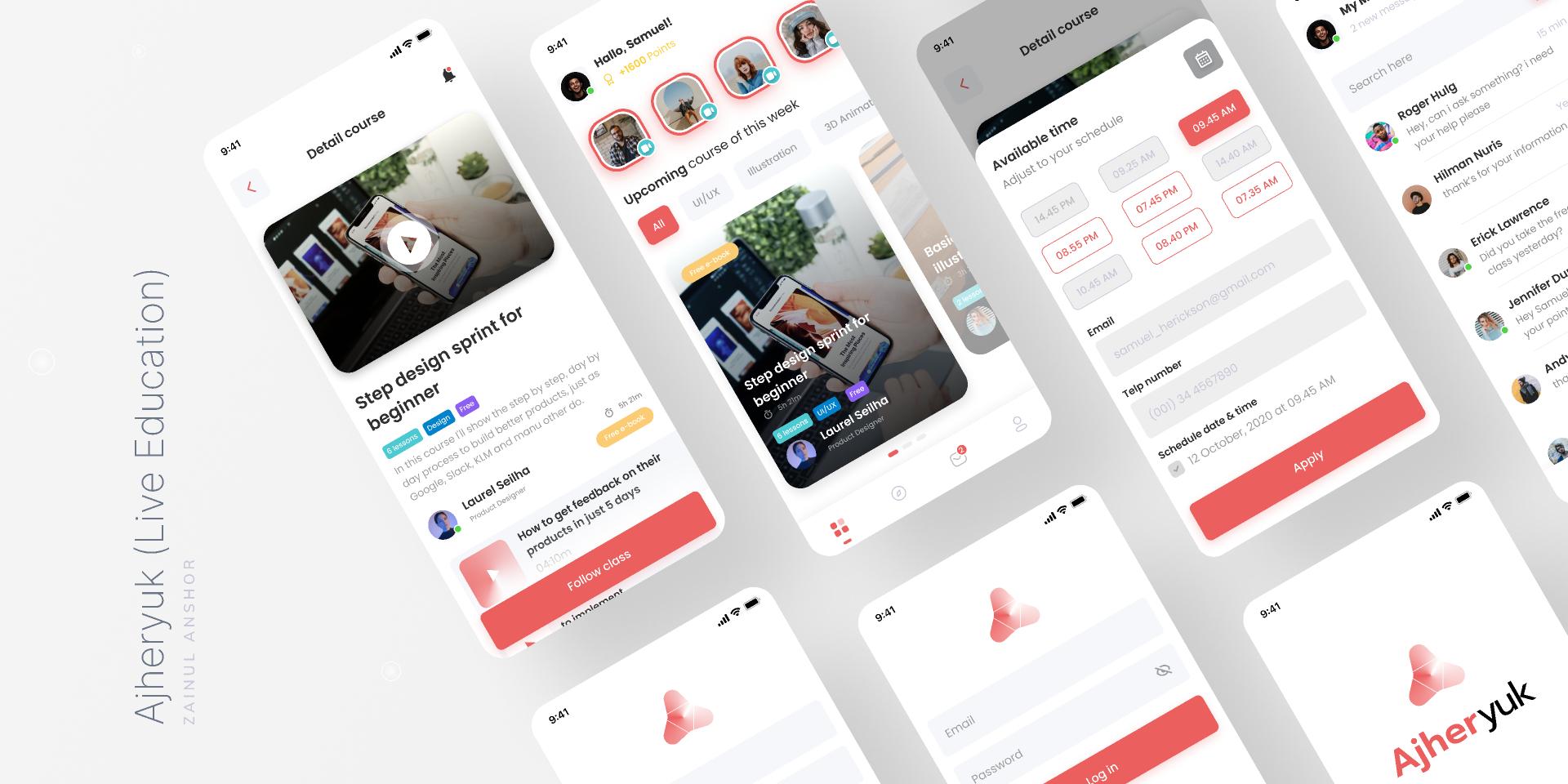 Figma Live Education Mobile Apps