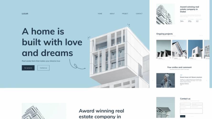 Figma Lugar Real Estate Landing Page