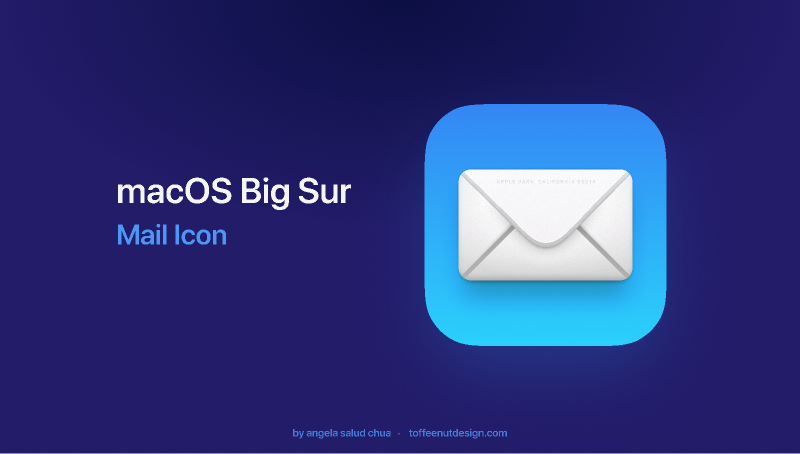 Figma macOS Big Sur Mail Icon