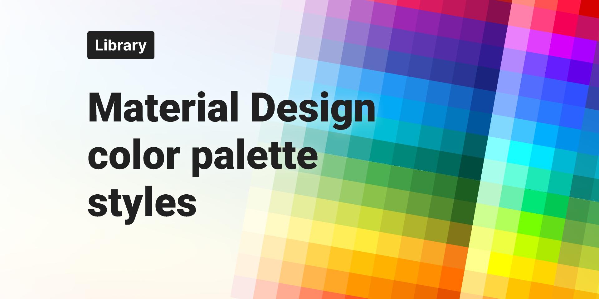 Figma Material Design Color Palette