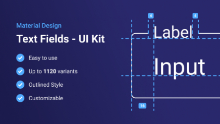 Figma Material Design Text Fields / Inputs (Outlined)