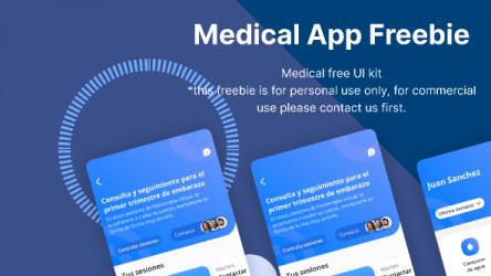 Figma Medical App Freebie Template