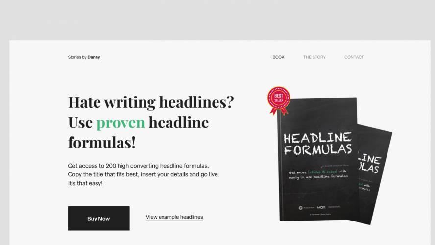 Figma Minimal Book Landing Page Free Download