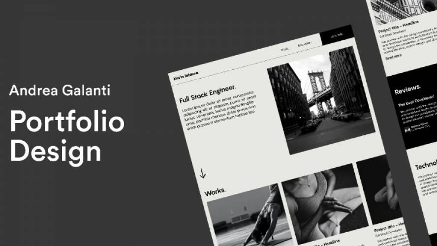 Figma Minimal Portfolio UI Design